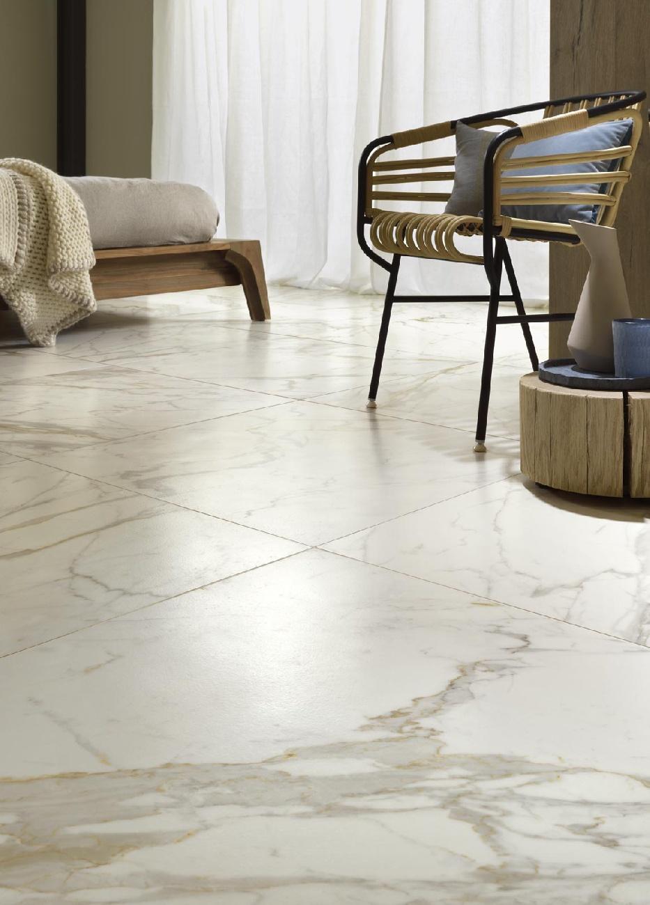 Pavimenti in gres porcellanato effetto marmo Bistrot