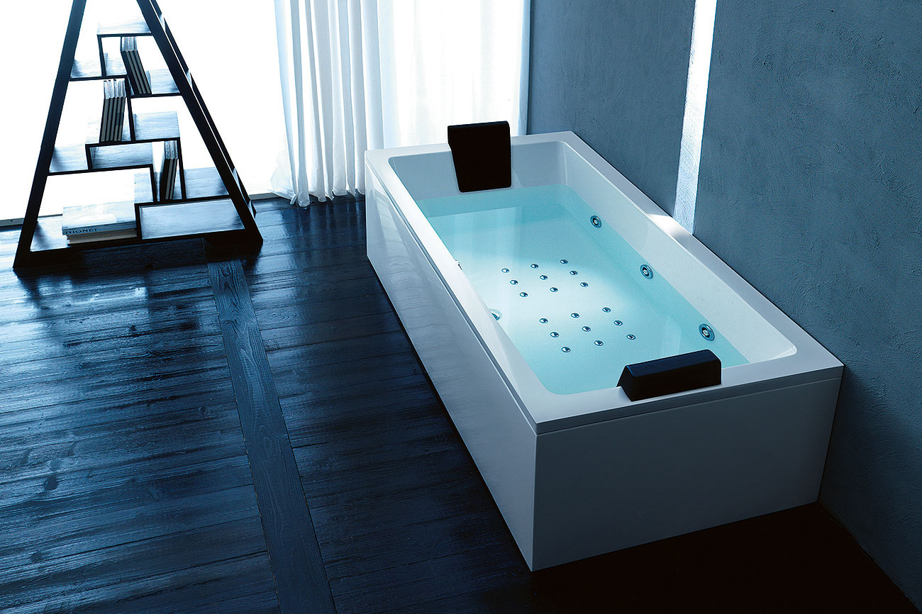 Quadra vasca idromassaggio rettangolare - Bordo vasca da bagno ...